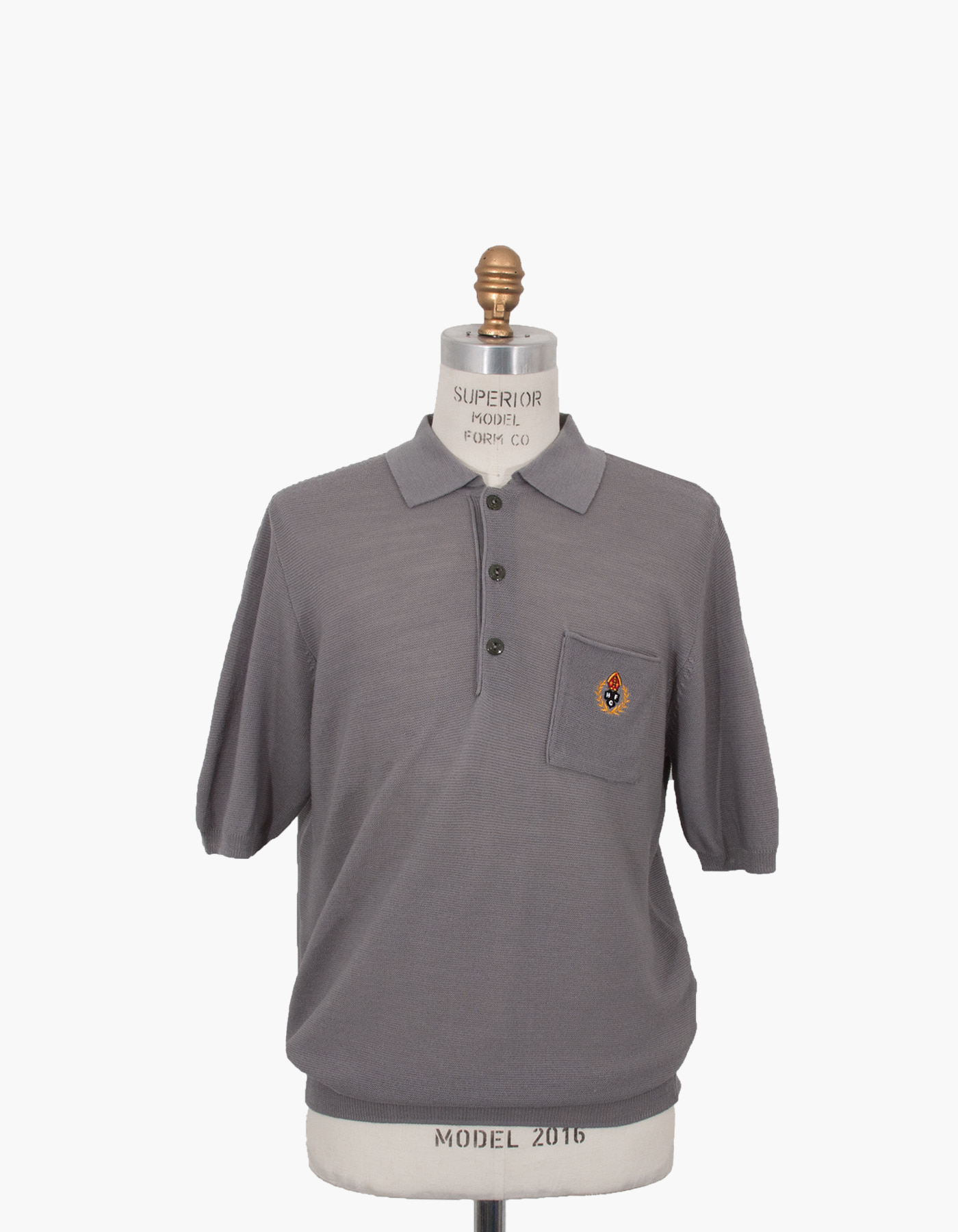 HFC CREST POLO SHIRTS / GREY