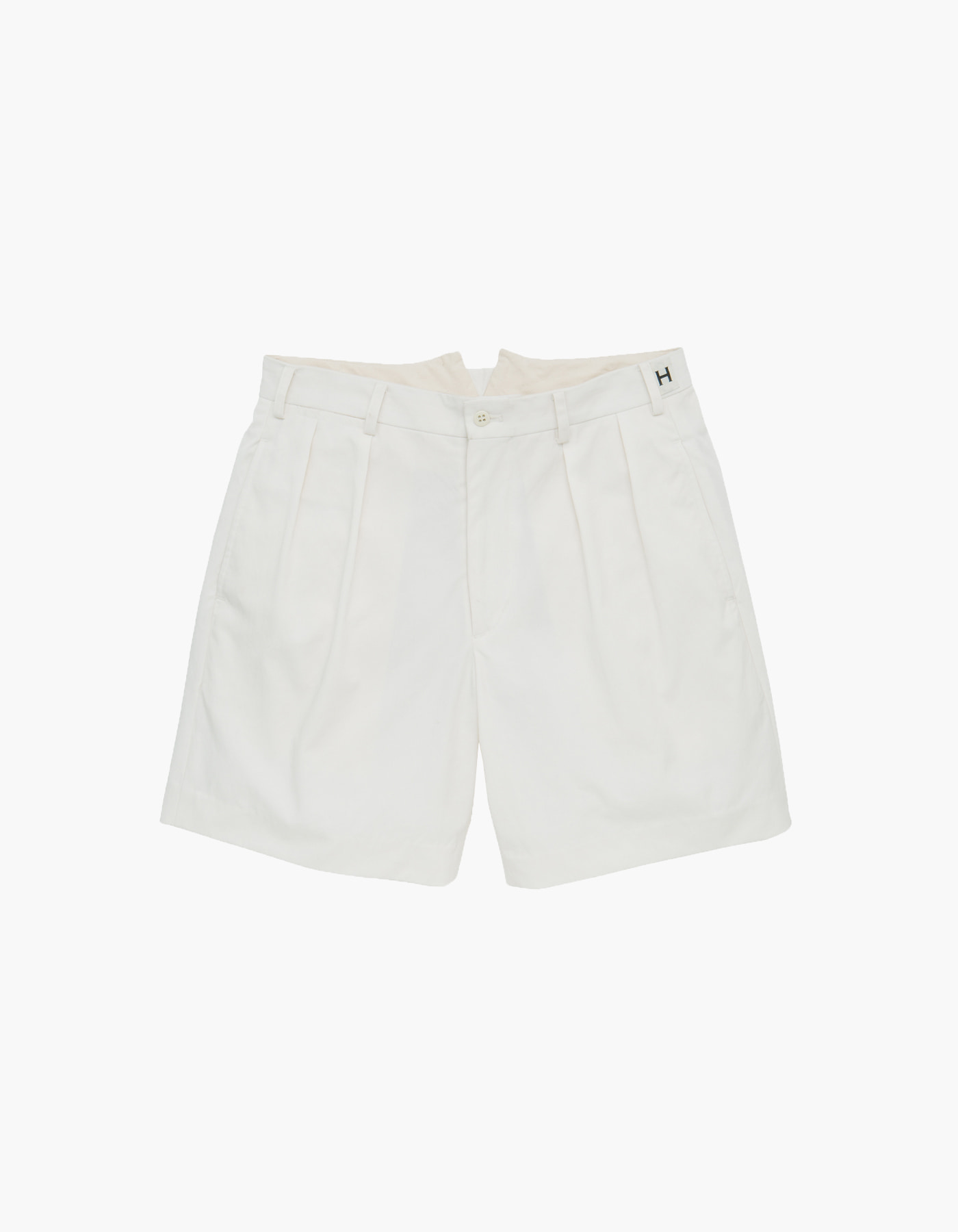 NYLON CHINO CLOTH SHORTS / WHITE
