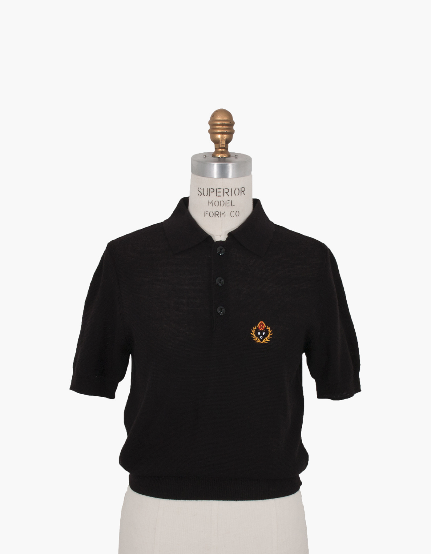 HFC CREST POLO SHIRTS (W) / BLACK