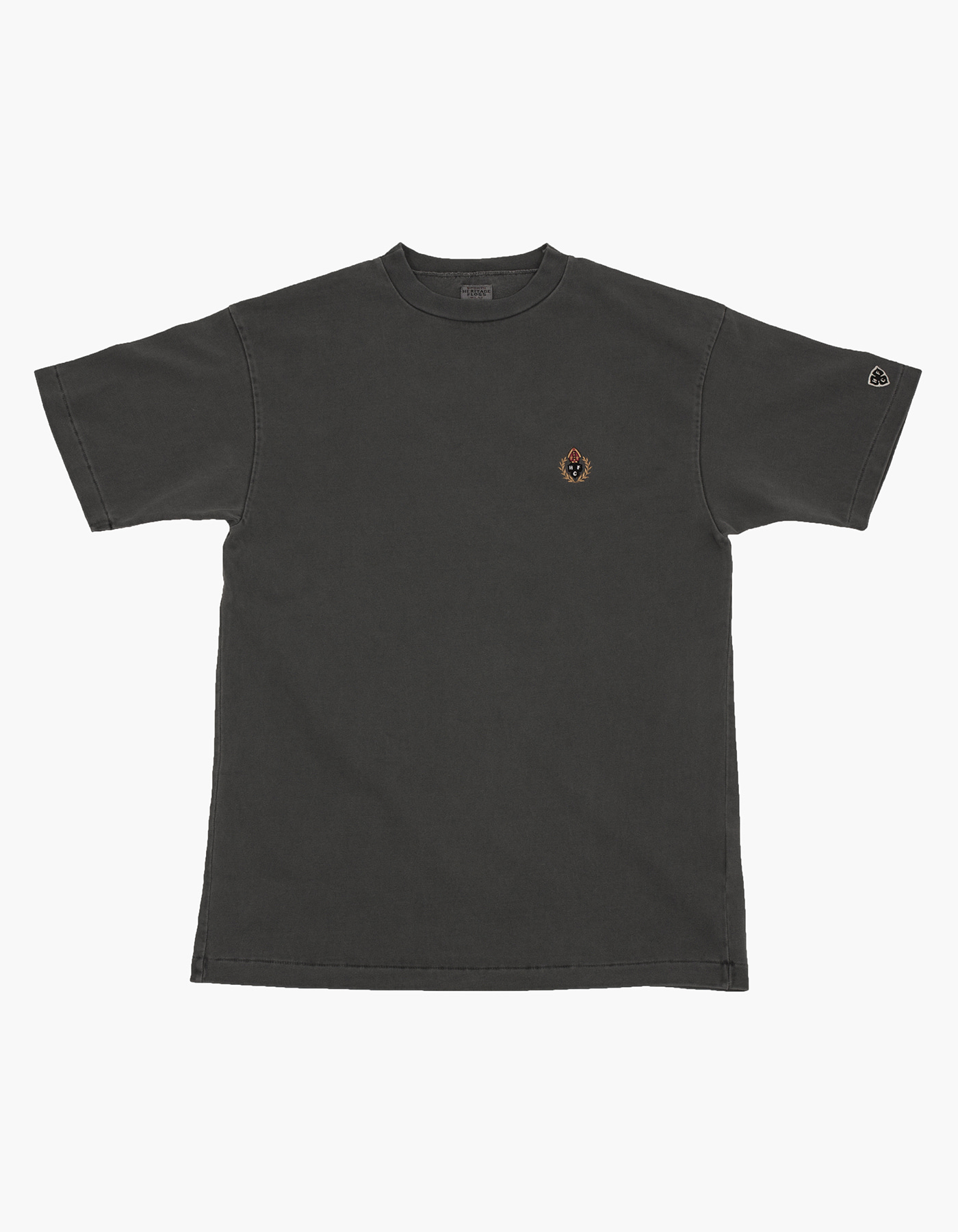 HFC CREST 10S COMPACT YARN T-SHIRT / CHARCOAL