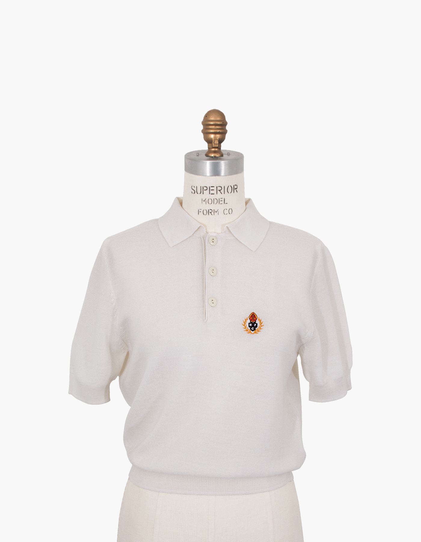 HFC CREST POLO SHIRTS (W) / WHITE