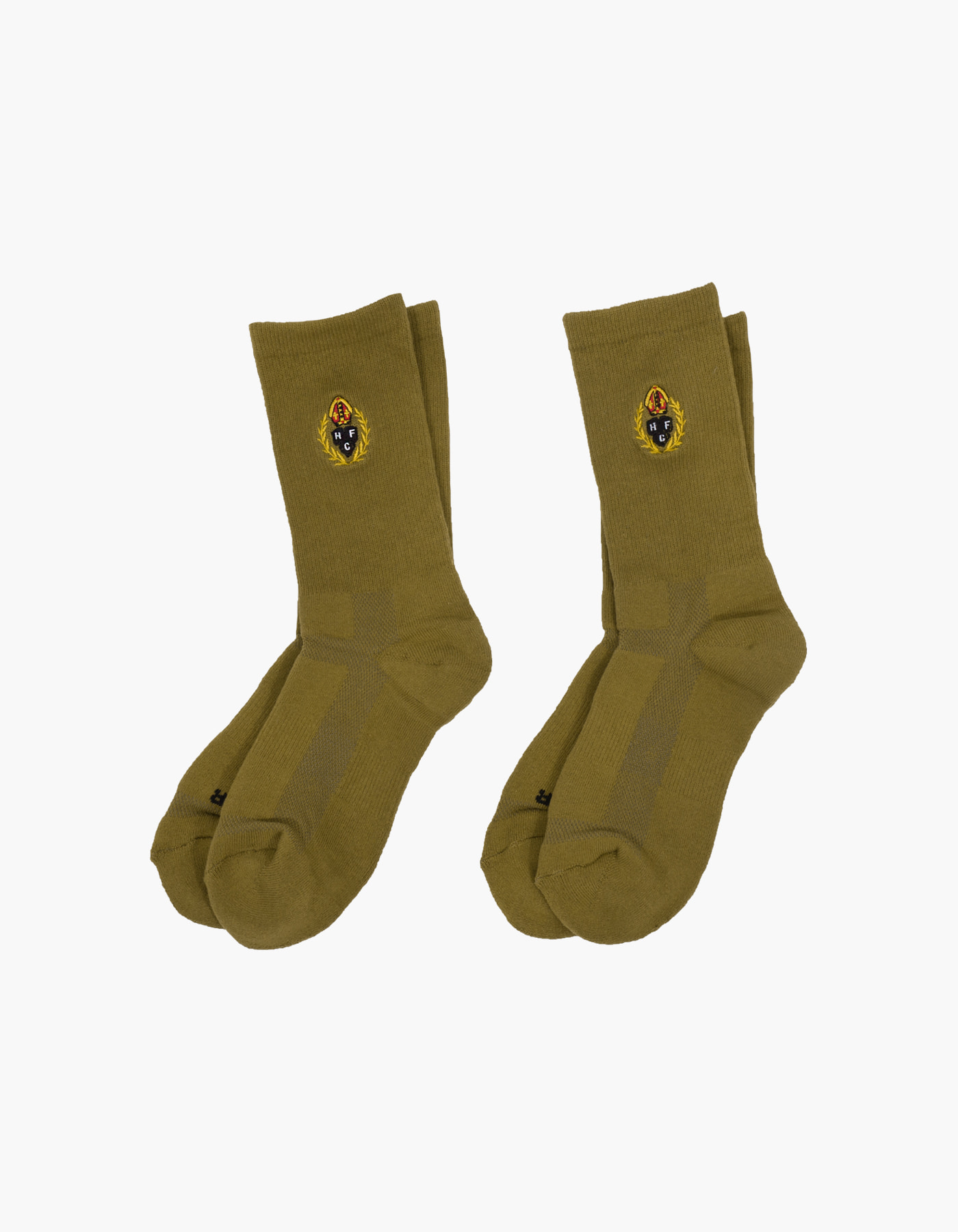 HFC CREST 5 FUNCTION SOCKS (2-PACK) / OLIVE