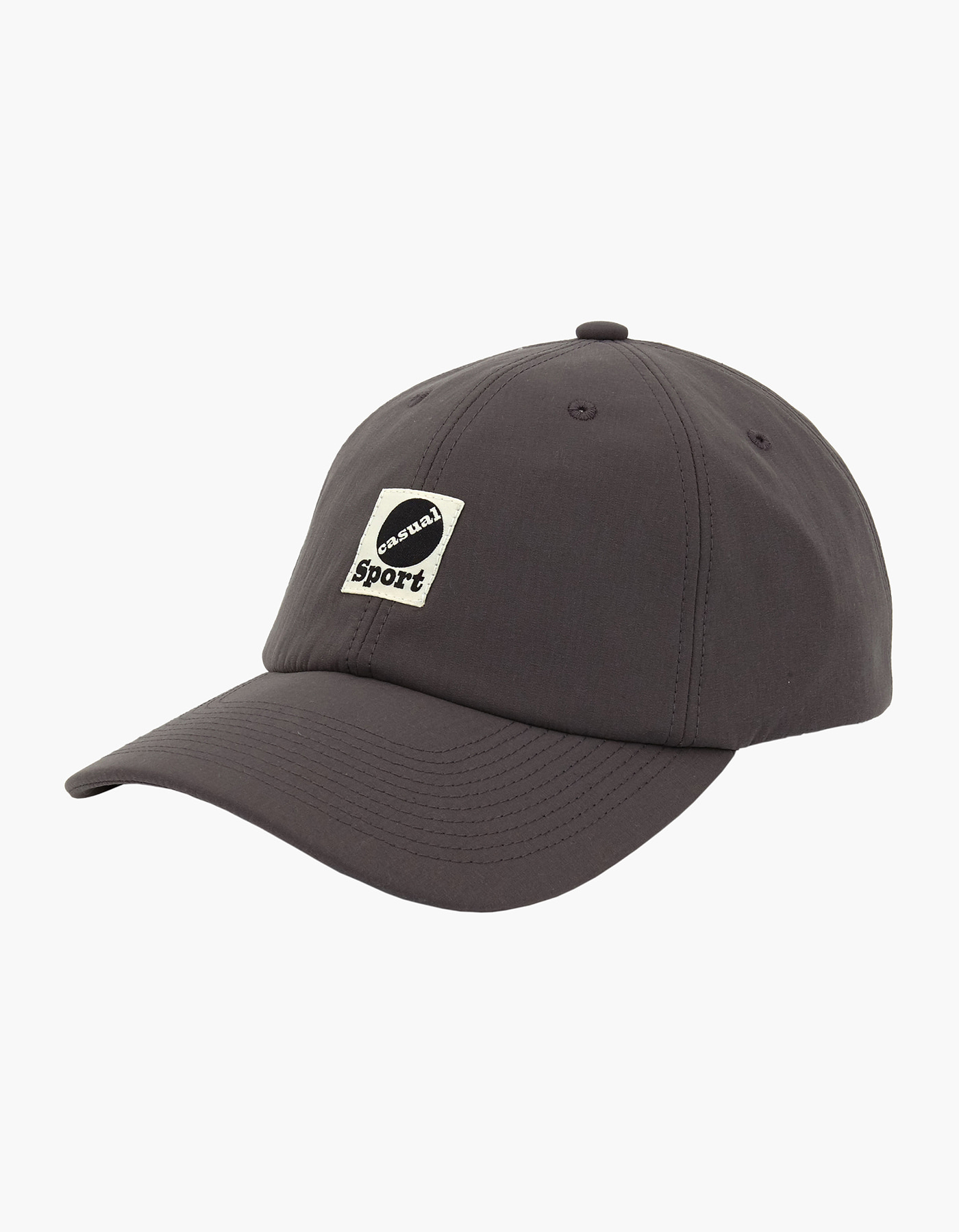 NYLON TAFFETA 6 PANEL CAP / CHARCOAL