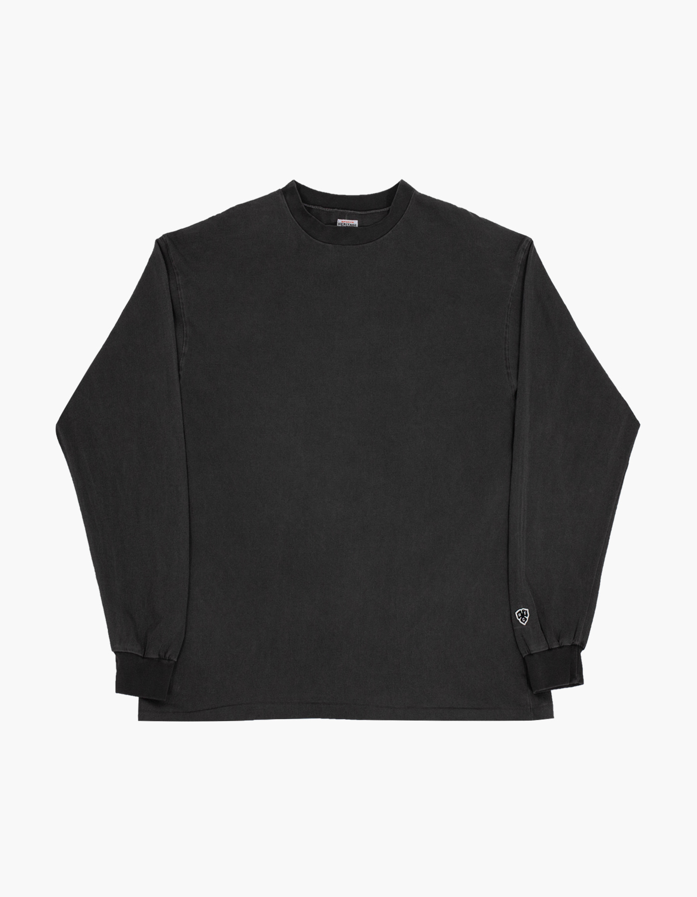 PIGMENT COMPACT YARN LONG SLEEVE / CHARCOAL