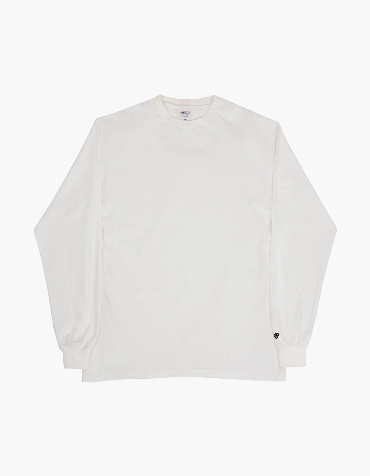 PIGMENT COMPACT YARN LONG SLEEVE / WHITE