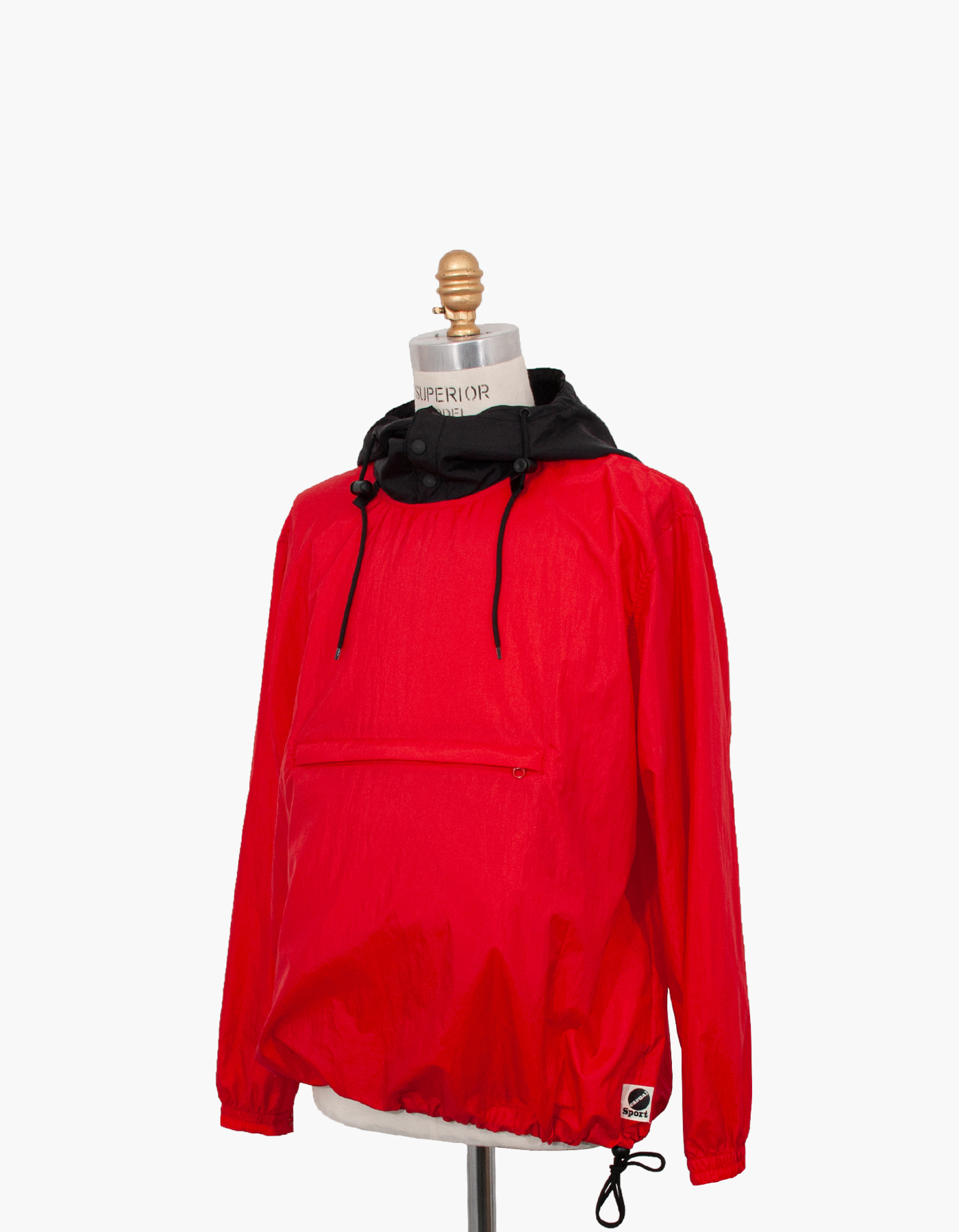 NYLON DIAMOND WASHER ANORAK / RED