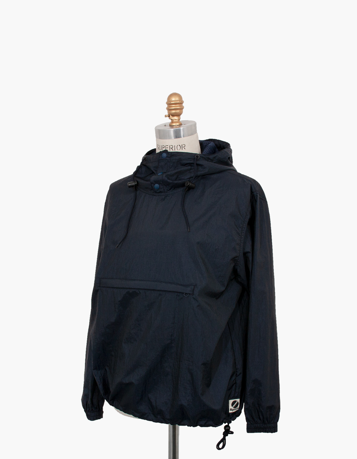 NYLON DIAMOND WASHER ANORAK / NAVY