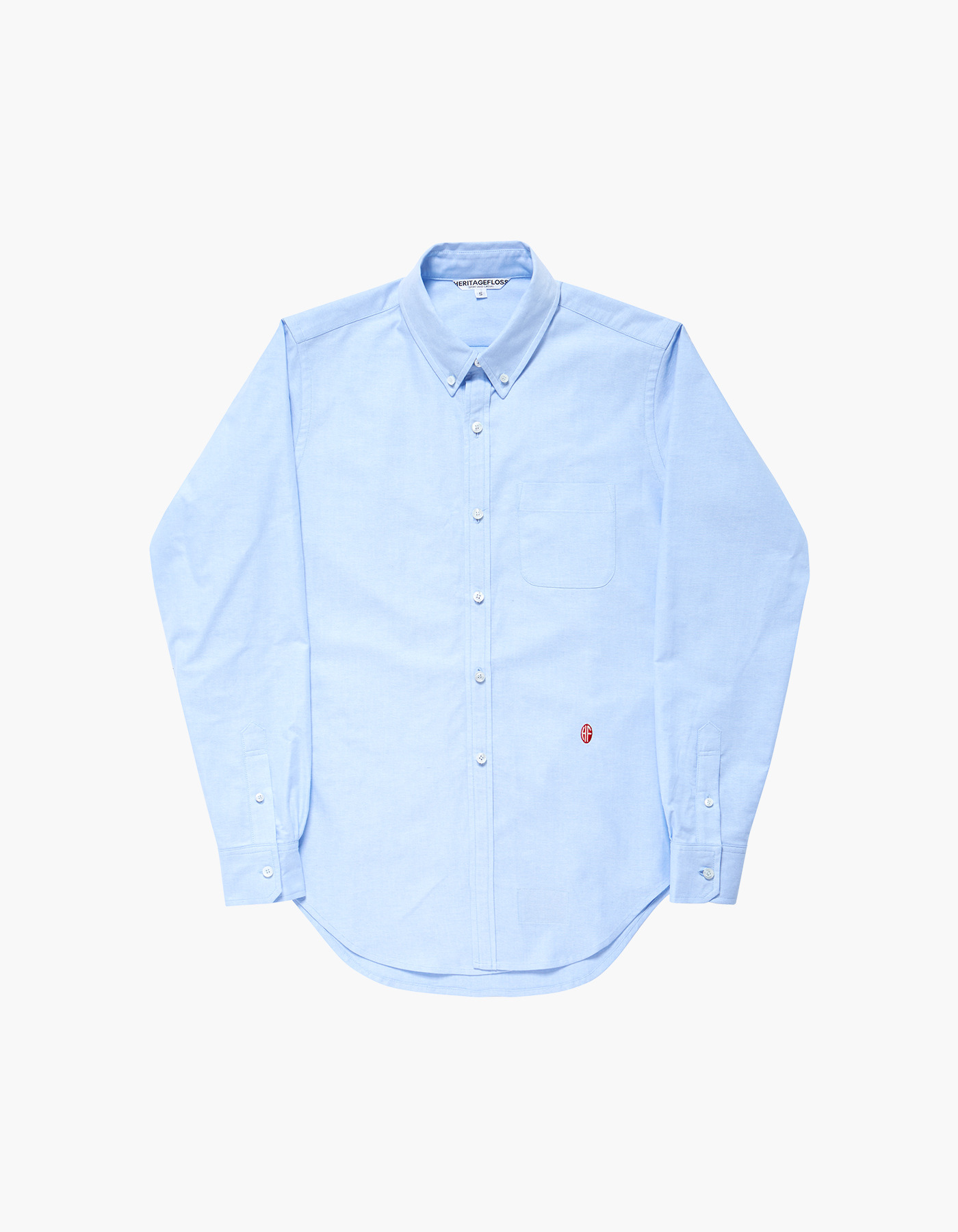 NON-WASHED OXFORD SPORT SHIRTS / BLUE