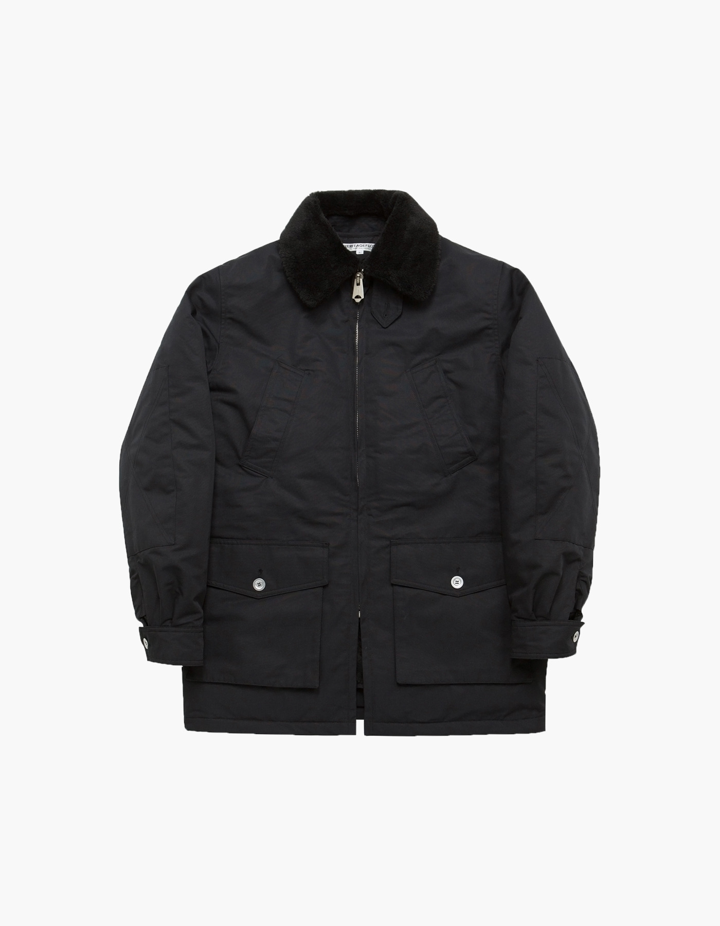 FUR LINING FIELD PARKA / BLACK
